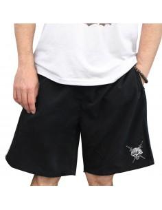 Pantalón Deporte corto NO PAIN NO GAIN CURIOUS en polyester, color negro