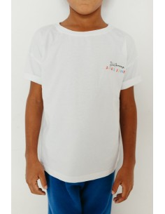 "Camiseta niño JAVATO JONES ""HAGALE PUES"" BLANCA"
