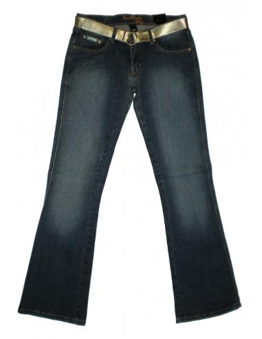Pantalón Chica SOUTH POLE LOW RISE-BOOT delante