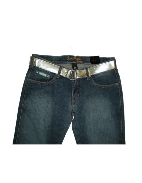 Pantalón Chica SOUTH POLE LOW RISE-BOOT detalle delante