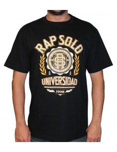 Camiseta RAPSOLO LOGO RS NEGRO unisex, en algodón color negro