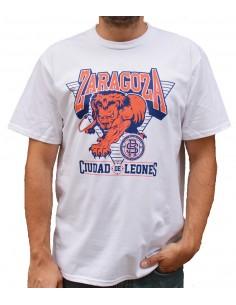 Camiseta ZGZ CIUDAD DE LEONES BLANCA