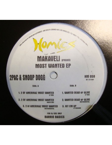 """MAKAVELI PRESENTS 2PAC & SNOOP DOGG """"MOST WANTED EP"""""""