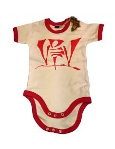 Body Bebé VIOLADORES DEL VERSO de algodón en color blanco