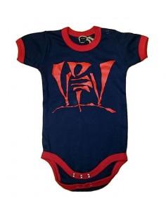 Body Bebé VIOLADORES DEL VERSO de algodón en color azul marino