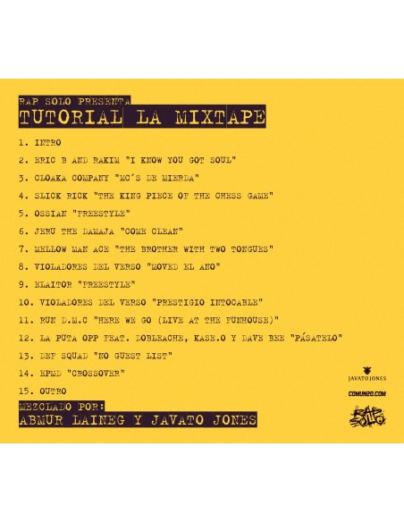 "DESCARGA GRATUITA MIXTAPE ABMUR LAINEG & JAVATO JONES ""TUTORIAL, LA MIXTAPE"""