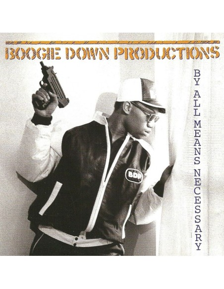 "VINILO LP BOOGIE DOWN PRODUCTIONS ""BY ALL MEANS NECESSARY"""