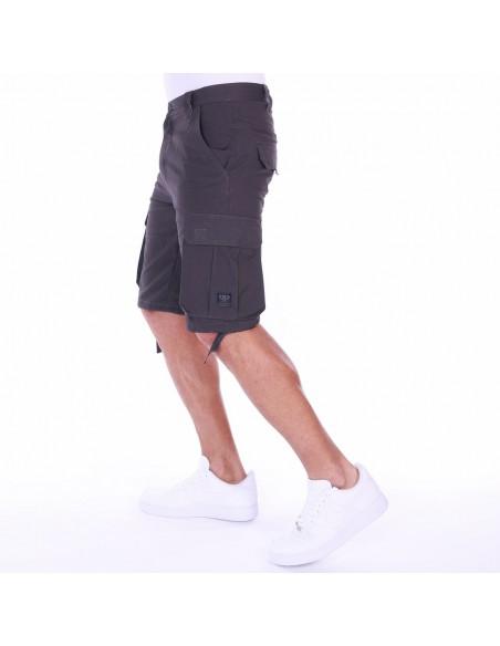 Pantalón Corto PELLE PELLE BASIC CARGO CHARCOAL