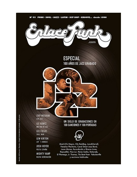 """Revista ENLACE FUNK Nº 55 + VINILO 7"""""""