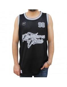 """Camiseta de tirantes VIOLADORES DEL VERSO """"HARDCORE"""" NEGRA unisex, de polyester en color negro"""