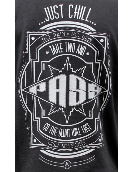 "Camiseta hombre NO PAIN NO GAIN ""TAKE TWO AND PASS"" en algodón, color negro"