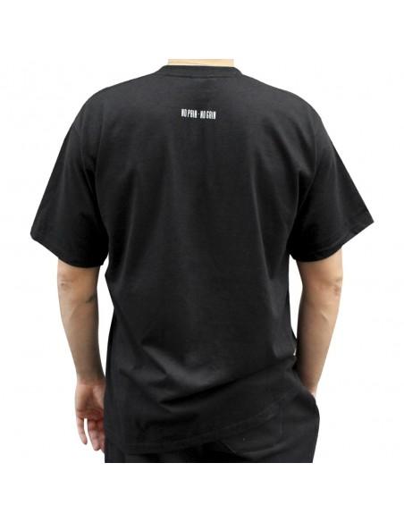"""Camiseta hombre NO PAIN NO GAIN """"LINED"""" en algodón, color negro"""
