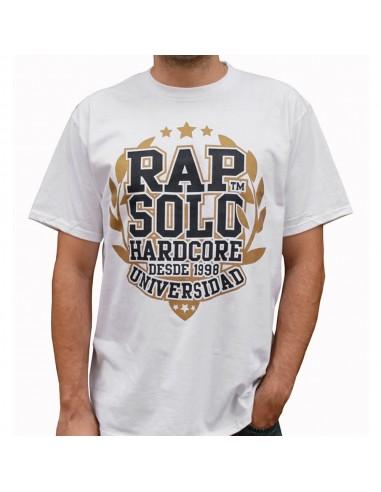 Camiseta RAPSOLO UNIVERSIDAD unisex, de algodón en color blanco