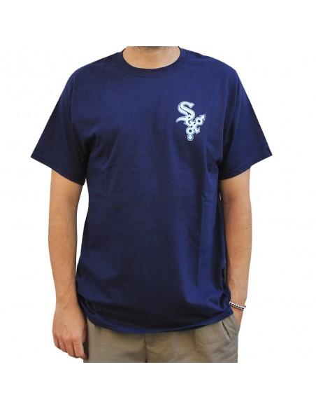 """Camiseta hombre NO PAIN NO GAIN """"SEX"""" en algodón, color azul marino"""