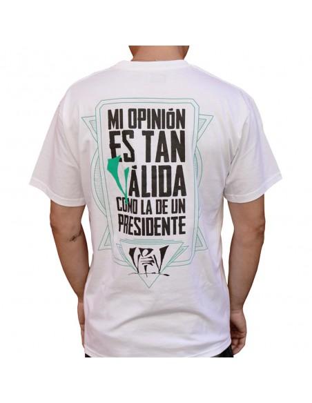 Camiseta VIOLADORES DEL VERSO RESTYLING unisex, de algodón en color blanco