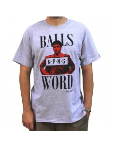 "Camiseta NO PAIN NO GAIN ""MY BALLS AND MY WORD"" GRIS"