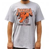 Camiseta ZGZ CIUDAD DE LEONES unisex, en algodón color GRIS