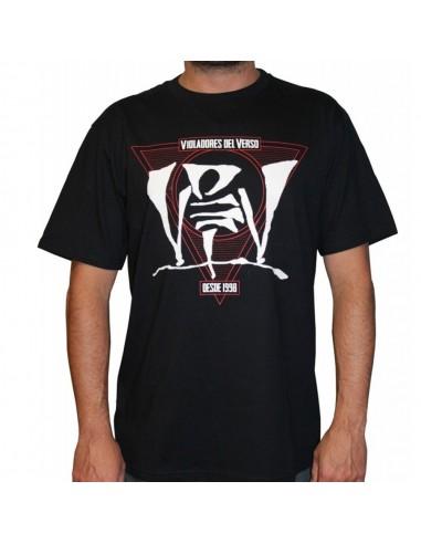 Camiseta VIOLADORES DEL VERSO RESTYLING unisex, de algodón en color negro