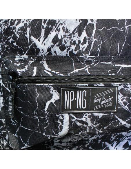 Mochila bagpack NPNG MARBLE en polyester, color NEGRO