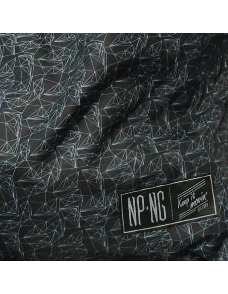 Mochila NPNG POLY en polyester,color NEGRO