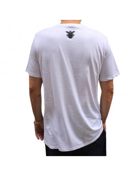 """Camiseta JAVATO JONES """"NINGUNA CHAVALA TIENE DUEÑO"""" BLANCA"""