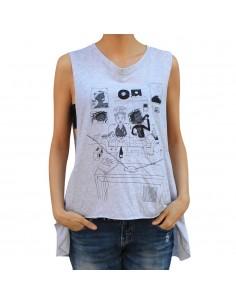 """Camiseta chica JAVATO JONES """"MAXIMO&LUDO"""" GRIS"""